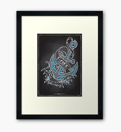 Chalk Board Tattoos - Hope Framed Print