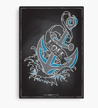 Chalk Board Tattoos - Hope Canvas Print
