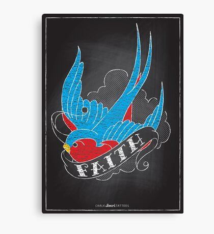 Chalk Board Tattoos - Faith Canvas Print