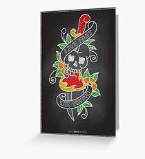 Chalk Board Tattoos - Skull Greeting Card