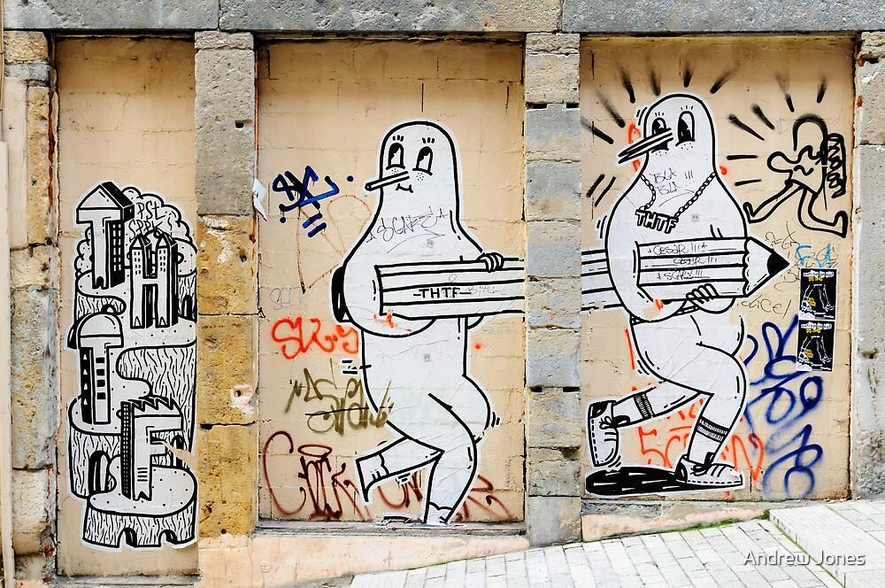THTF, street graffiti, Lyon, France by Andrew Jones