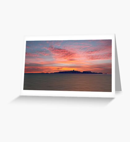 Dawn over the Isle of May Greeting Card