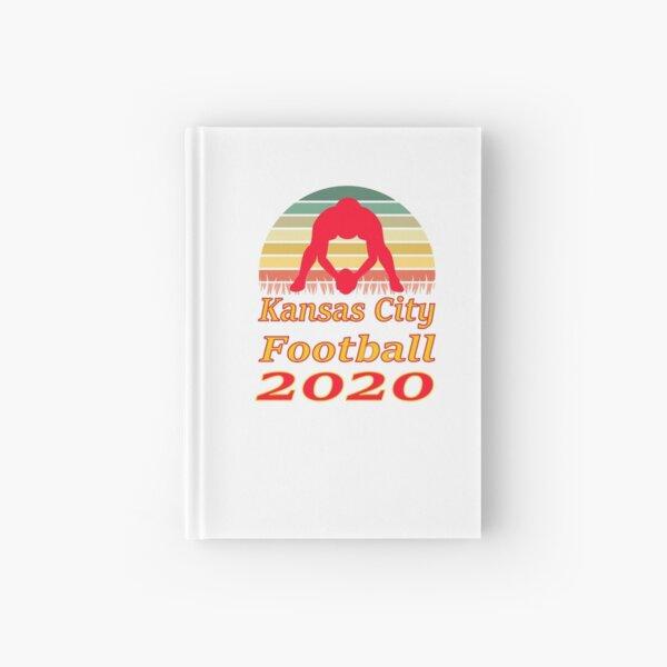 Kansas City Football 2020 Retro Sunset funny design Hardcover Journal