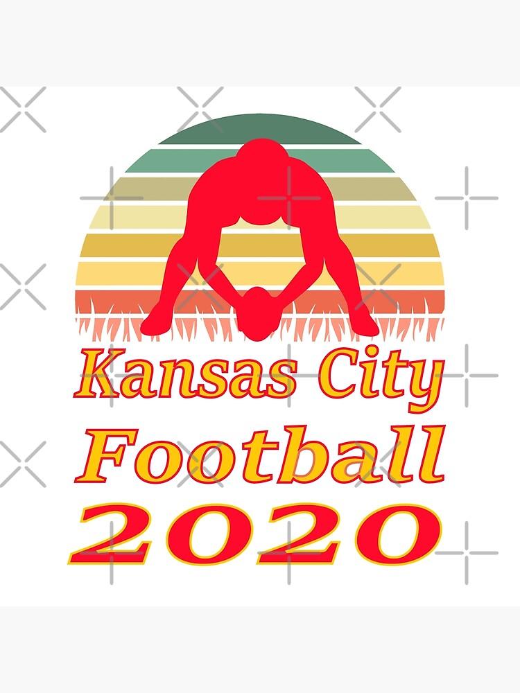 Kansas City Football 2020 Retro Sunset funny design by BGRoberts