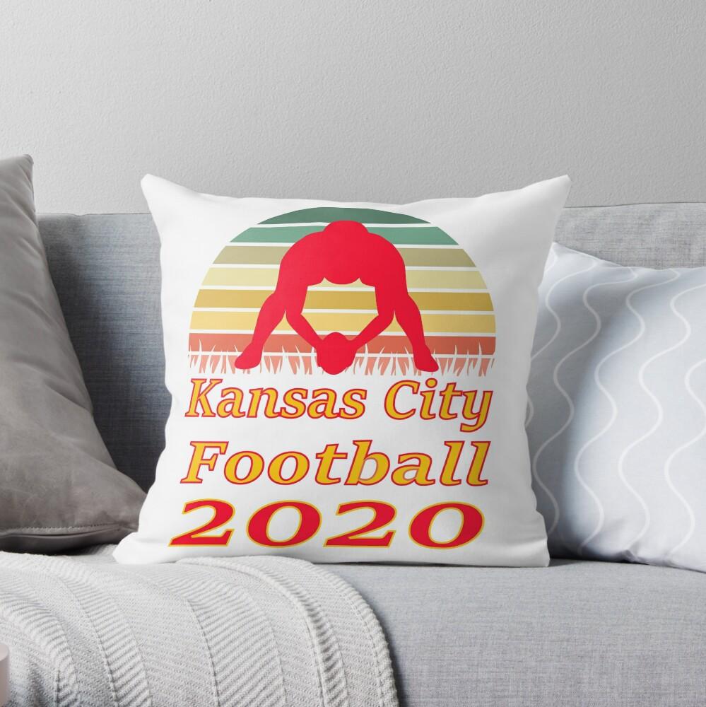 Kansas City Football 2020 Retro Sunset funny design Throw Pillow