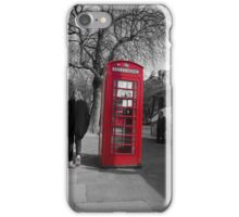 Red Phonebox iPhone Case/Skin