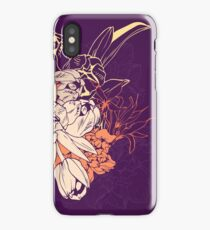 Graphic composition composed of tulips and narcissus iPhone Case