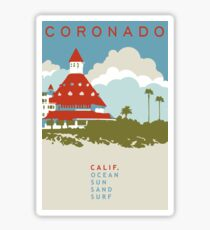Coronado - California. Sticker