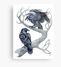 Hugin and Munin Metal Print