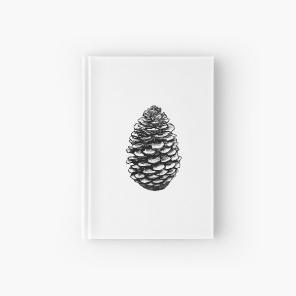 Pine Cone Black Hardcover Journal
