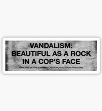 Vandalism Sticker