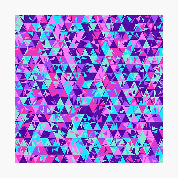 Dulled Air Ioniser (purples, pinks and greens) Photographic Print