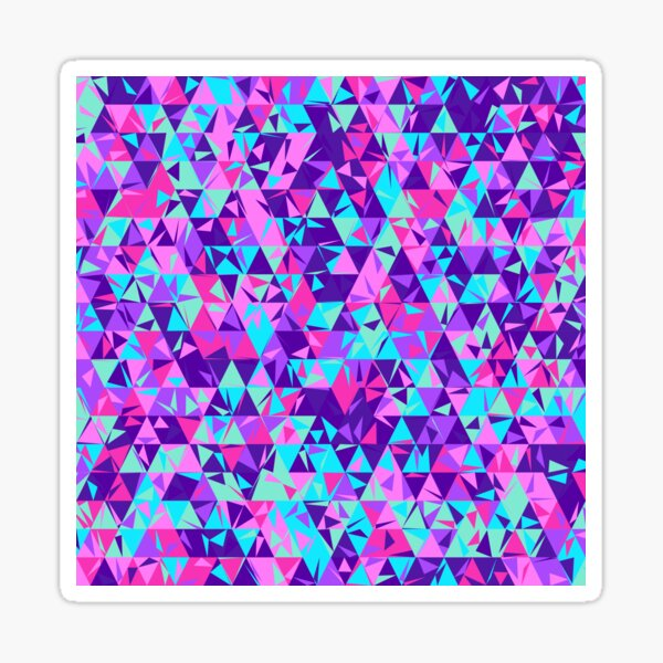Dulled Air Ioniser (purples, pinks and greens) Sticker