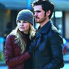 Captain Swan in Storybrooke Comic Poster Logoless Design by Marianne Paluso