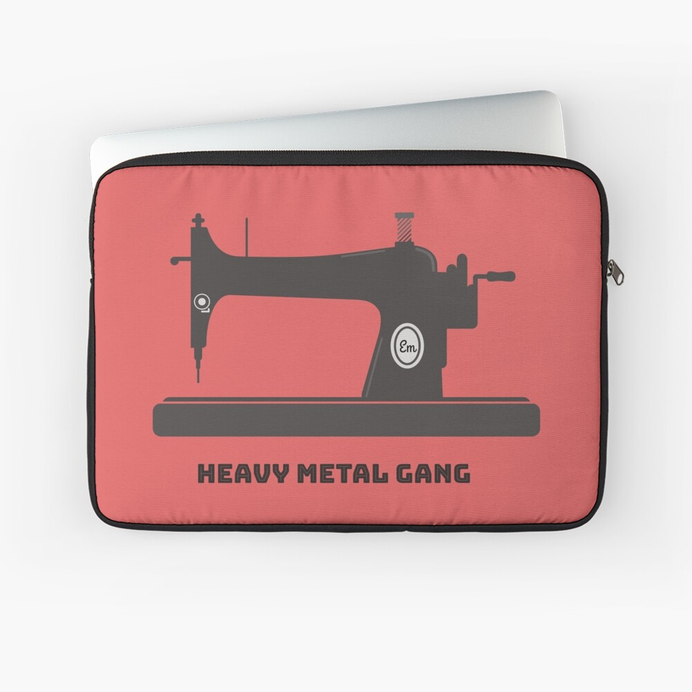 Heavy Metal Gang-Vintage Sewing Machine-Vintage Sewing Machine Lover Laptop Sleeve