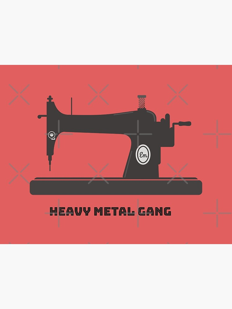 Heavy Metal Gang-Vintage Sewing Machine-Vintage Sewing Machine Lover by Matlgirl