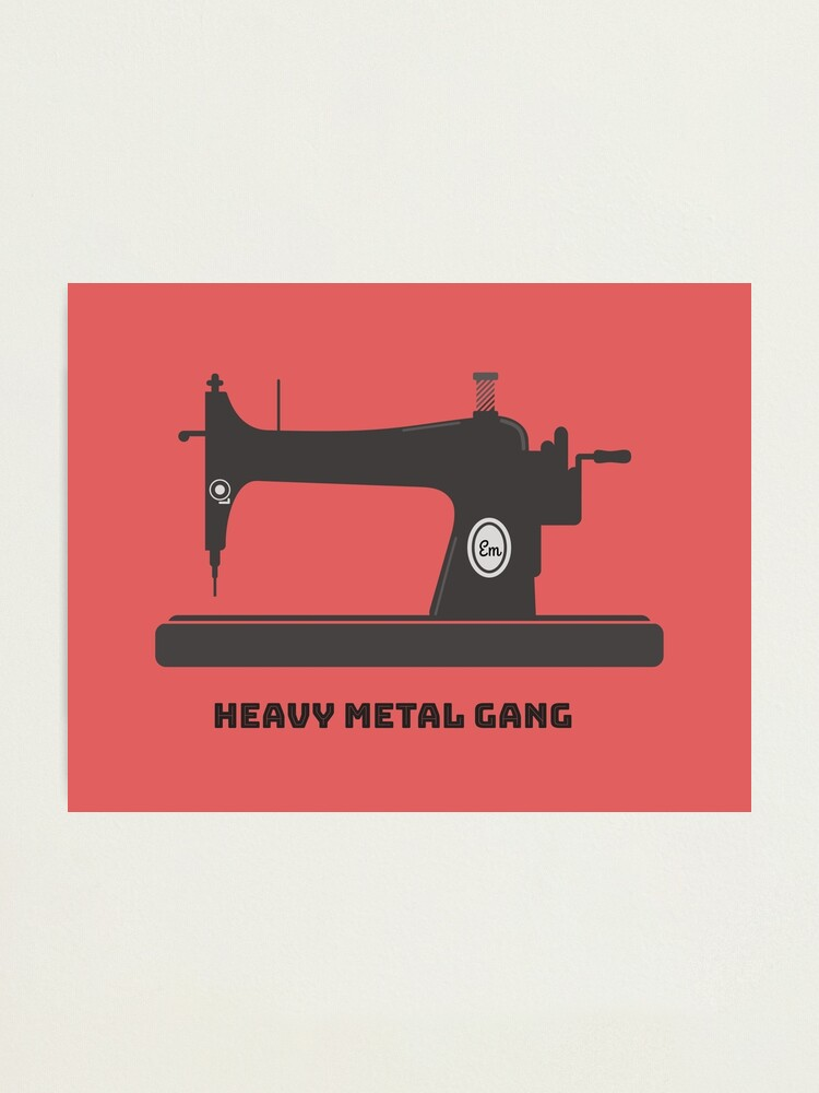 Alternate view of Heavy Metal Gang-Vintage Sewing Machine-Vintage Sewing Machine Lover Photographic Print