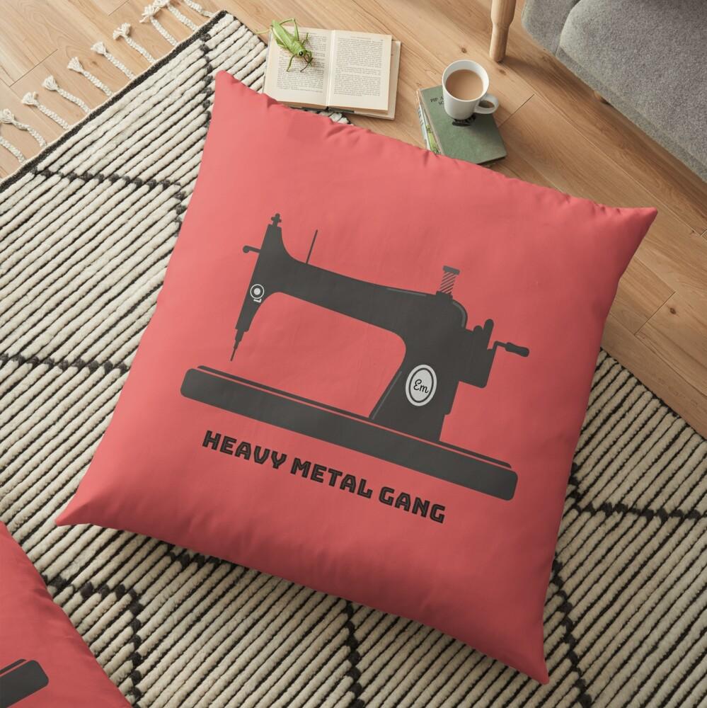 Heavy Metal Gang-Vintage Sewing Machine-Vintage Sewing Machine Lover Floor Pillow