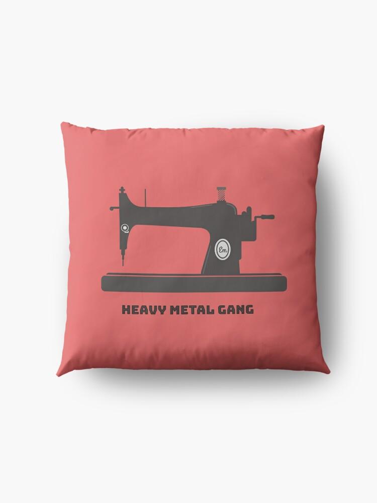 Alternate view of Heavy Metal Gang-Vintage Sewing Machine-Vintage Sewing Machine Lover Floor Pillow