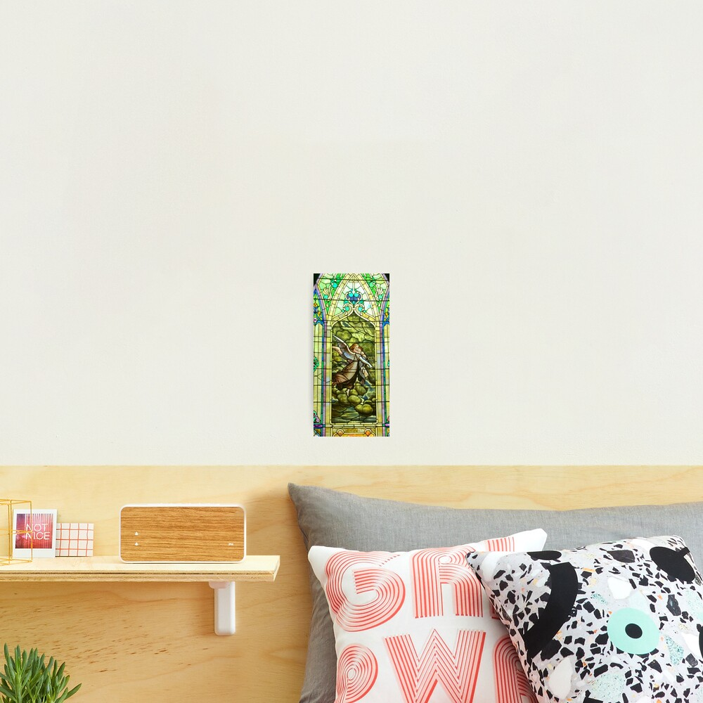 New Harmony-Stained Glass-Madonna & Child-Angel & Baby-St. Stephen's Church Photographic Print