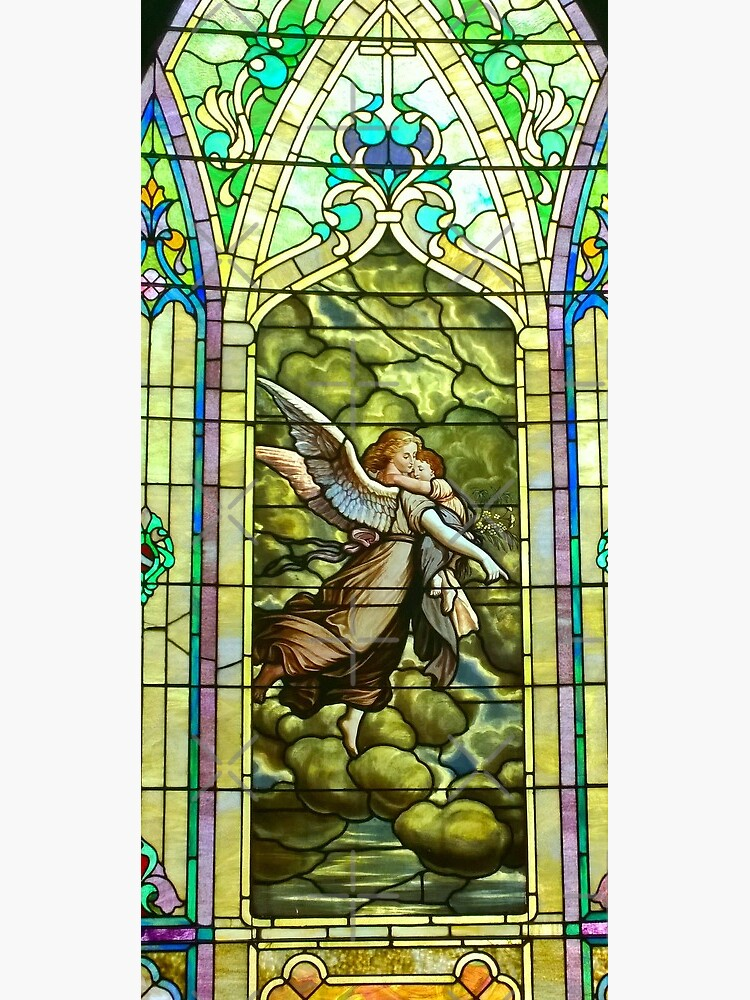 New Harmony-Stained Glass-Madonna & Child-Angel & Baby-St. Stephen's Church by Matlgirl