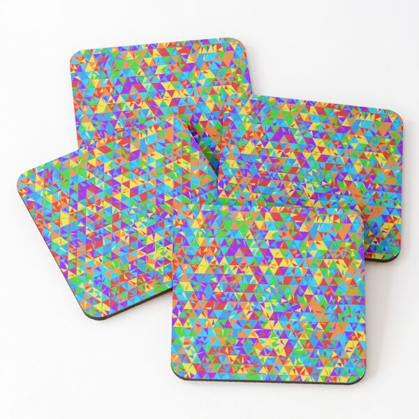 Dulled Air Ioniser (rainbow colors) Coasters (Set of 4)