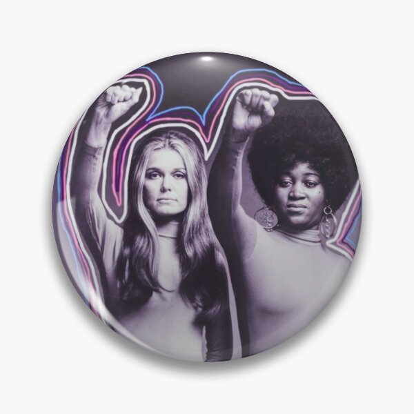 Gloria Steinem and Dorothy Pitman Hughes, 1971 Pin