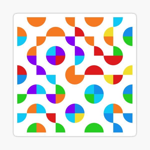 Excitedly Inoffensive Mercury (rainbow colors) Sticker