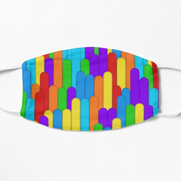 Insolent Formality (rainbow colors) Flat Mask