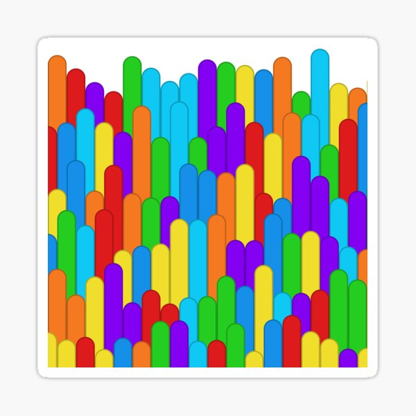Insolent Formality (rainbow colors) Sticker