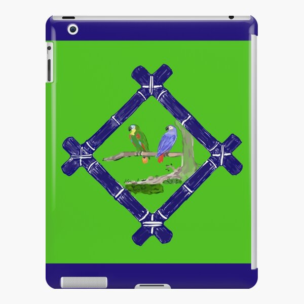 Two Parrots on a Branch with Bamboo iPad Snap Case