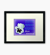A Flower for Christmas - for all my RedBubble Friends Framed Print