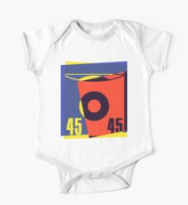 Pop Art 45 Vinyl Record One Piece - Short Sleeve