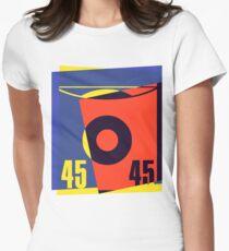 Pop Art 45 Vinyl Record Women's Fitted T-Shirt