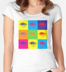 Pop Art 1200 Turntable Women's Fitted Scoop T-Shirt