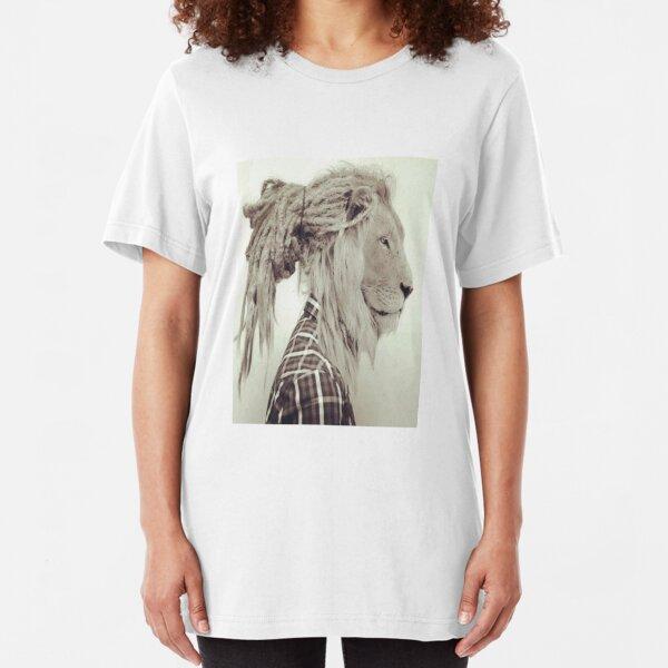 Dread lock Lion Slim Fit T-Shirt