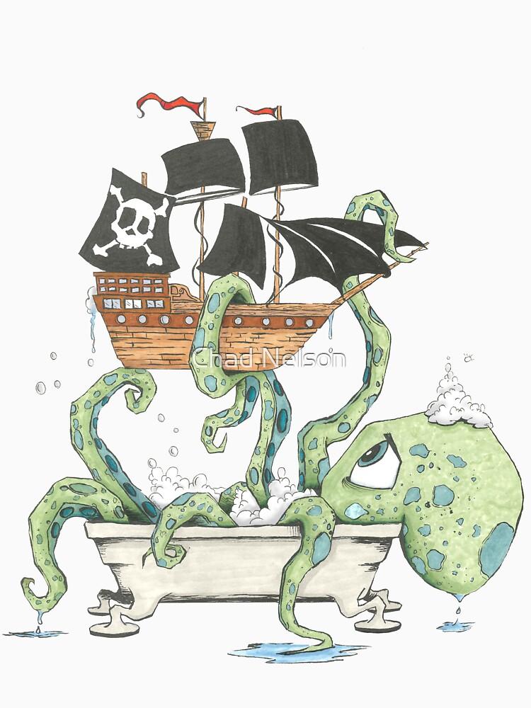 Kraken in the Tub by handclones