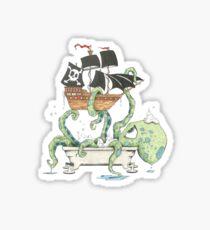 Kraken in the Tub Sticker
