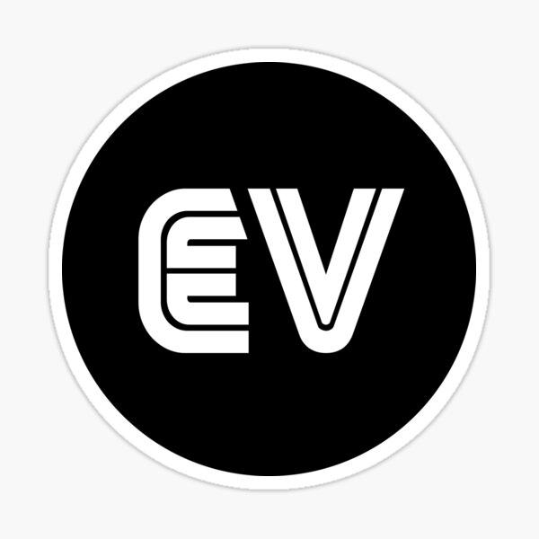 Autocollant EV - Style années 80 - Noir Sticker
