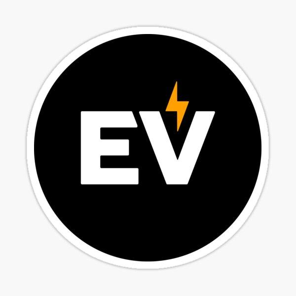 Autocollant EV - Noir Sticker