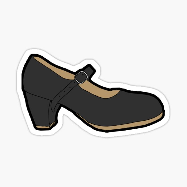 Folklorico Heel Sticker