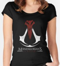 Mandalorian's Creed (black) Women's Fitted Scoop T-Shirt