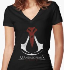 Mandalorian's Creed (black) Women's Fitted V-Neck T-Shirt
