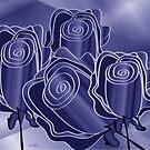 Purple posies by IrisGelbart