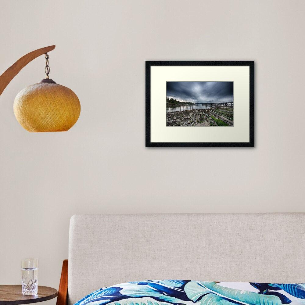 Miners Bay, Storm Coming Framed Art Print