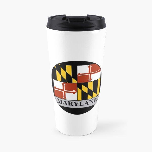Maryland flag circle Travel Mug