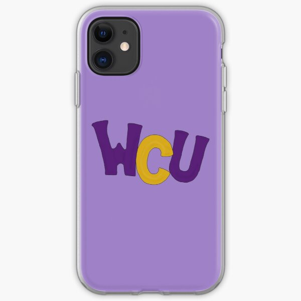 WCUPA Purple and Gold Balloon Letters iPhone Soft Case