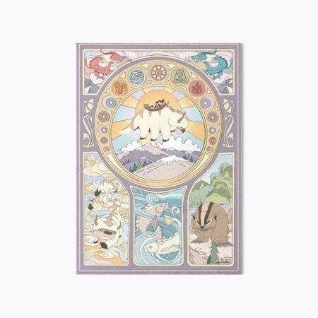 Team Avatar and Original Benders, Art Nouveau Art Board Print