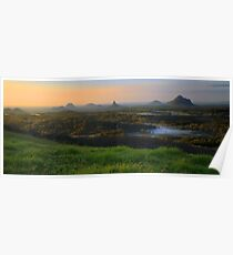 Sunrise Over the Glass House Mountains Poster