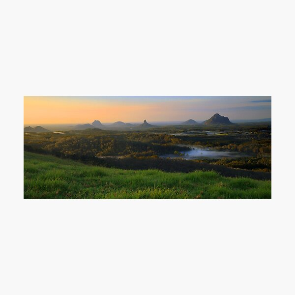 Sunrise Over the Glass House Mountains Photographic Print
